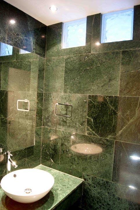Aseo mármol verde